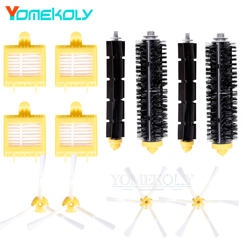 HEPA Filter Side Brush Kit Bristle and Flexible Beater Brush for iRobot Roomba 700 Series 770 780 790 Vacuum Cleaer Accessory hepa filter side brush kit bristle and flexible beater brush suitable for irobot roomba vacuum parts 700 760 770 780 series