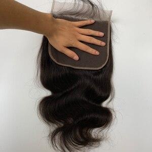 Image 3 - 7x7 Körper Welle Spitze Verschluss 150 Dichte Pre Gezupft Mit Baby Haar Natürlichen Haaransatz Queenlike Brasilianische Remy Haar 7x7 Verschluss
