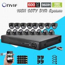 TEATE Home CCTV Security 16CH Standalone Network DVR Camera Video system 16pcs Weatherproof Camera surveillance DIY Kit CK-167