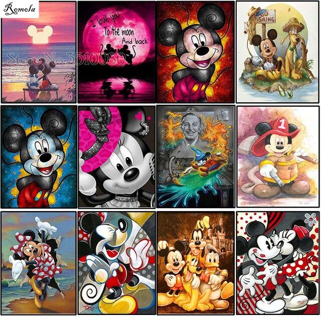 Đầy đủ Vòng/vuông Phim Hoạt Hình Mickey Mouse 5D kim cương TỰ LÀM bức tranh thêu mô hình 3d cross stitch bộ dụng cụ trang trí phòng cưới