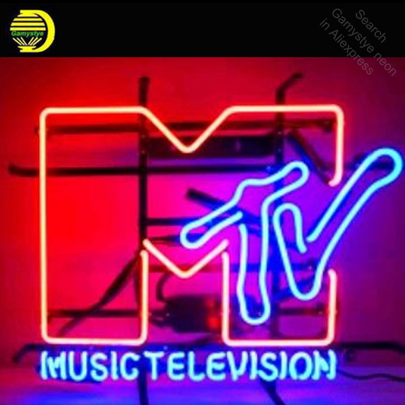 Music Television Neon Sign neon bulb Sign Glass Tube neon lights Recreation Room Beer Iconic vintage Sign Advertise personalized