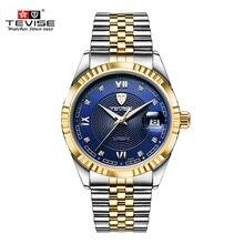 Original TEVISE Marca Hombres Reloj Mecánico Automático de Los Hombres Reloj de Pulsera Para Hombre de Lujo de Los Hombres Niños Relojes Reloj relogio masculino