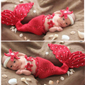 Новорожденный фотография опоры набор красоты русалка костюм детские фотографии аксессуары девушки Детские Фото Опора Младенческая рыбы для девочка мальчик