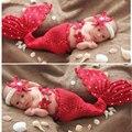 Recién nacido conjunto belleza sirena traje apoyos de la fotografía accesorios de fotografía del bebé niñas Bebé Apoyo de la Foto del Bebé de pescado para la muchacha del muchacho