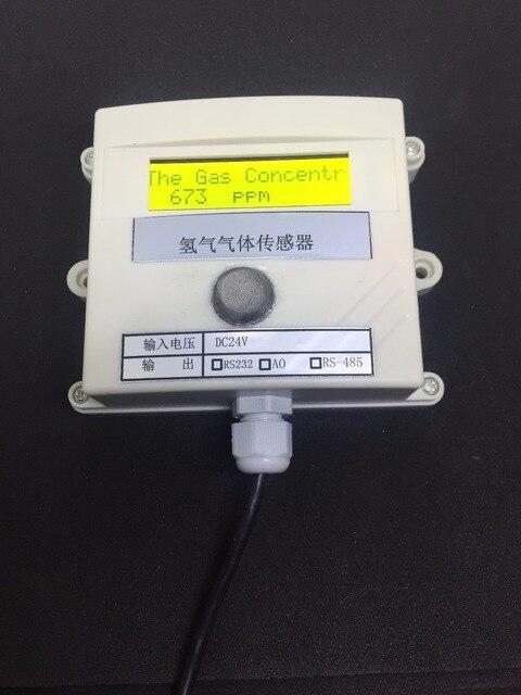 Hydrogen gas Concentration sensor transmitter H2 gas sensor online test 485 232 0 5v switching value 4 20MA plc modbu 0 1000ppm