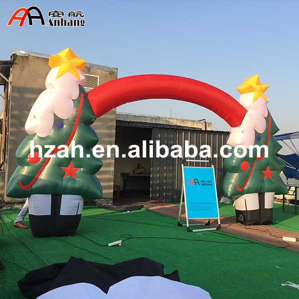 Christmas Inflatable Tree Arch Party Decoration Arch bingo 10m christmas inflatable arch door with santa claus cartoon on the top for christmas party decoration festival toy