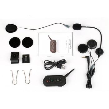 1200m Motorcycle E6 Inter-phone Helmet Intercom With bluetooth Function Motor FM Headset Referee With Mic Communicator