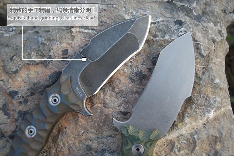 Купить 2016 Новые Предметы интерьера высокая твердость стали DC53 открытый инструмент нож выживания поле нескользящей G10 Ручка дешево