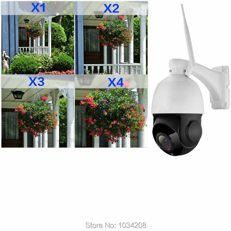 4 дюймов H.264 P2P Onvif Слот для карты SD ИК Водонепроницаемый 4x Оптический зум 1080 P Wi Fi Беспроводной открытый купол IP камера двухстороннее аудио