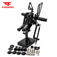 FOR Ducati Monster 696/796/1100/1100S/1100 EVO CNC Aluminum Alloy Motorcycle footrest footpeg pedal foot peg Rearset Rear Set