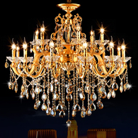 Gold Chandelier Classic LED Crystal Chandeliers lamparas de techo colgante moderna Lighting Modern Lighting Fixture Chandeliers