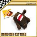 Car-styling For Domo Kun Plush 3D Tooth JDM Universal Keyring Key Ring Chain 9CM Height