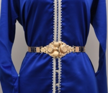Giá rẻ shippping Maroc Caftan cưới vàng đồng Kim Loại đồng xu dây dành cho nữ