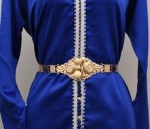 משלוח shippping מרוקאי קפטן חתונה זהב נחושת מתכת מטבע חגורת עבור נשים