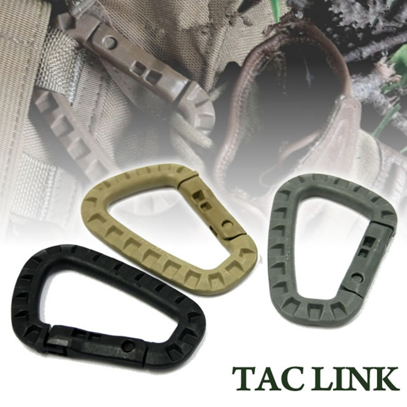 CQC Molle System D Buckle Medium ITW Outdoor Camping Climbing Accessories Backpack Carabiner Hook Molle Pouch Clasp Clip 1PCS