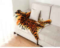 Luxurly Imitate Tiger Sheepskin Rug Australian Sheepskin Pelts Fur Blanket Home Carpets Bedroom Living Room Sofa