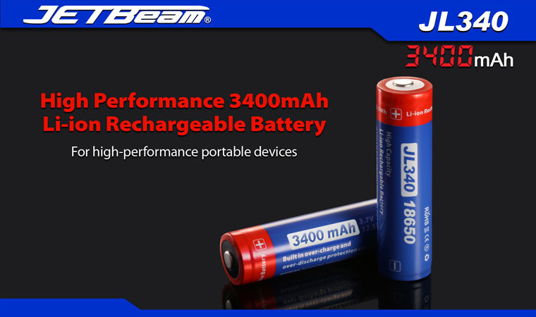 1PC Jetbeam 18650 JL340 3400mAh 3.7v Protected PCB Li-ion Lithium Rechargeable Battery + Free Shipping цена