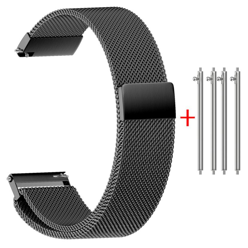 GENVIVIA Classic Fashion Milanese Magnetic Loop Stainless Steel Watch Strap Bands 22/20/18/16/14MM fitness bracelet wristwatch