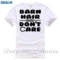Barn Hair Don T Care Funny Mens O Neck T Shirt Holiday Gift Horse Lover Tee