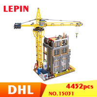 Лепин 15031 Legoing создатели 4452 шт. серии кран строительство Building Block модель игрушечные лошадки для детей Совместимость Legoings