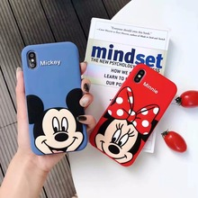 3D Cartoon Cute Mickey Minnie Mouse Soft Silicone Back Cover For iPhone 5 5s SE 5C 6 6s X XR Xs Max 7 8 Plus Phone Case Fundas цена