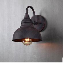Lámpara de pared Industrial para exteriores, lámpara Europea resistente al agua, lámpara de jardín, lámpara americana para balcón, escaleras, lámpara de pared exterior