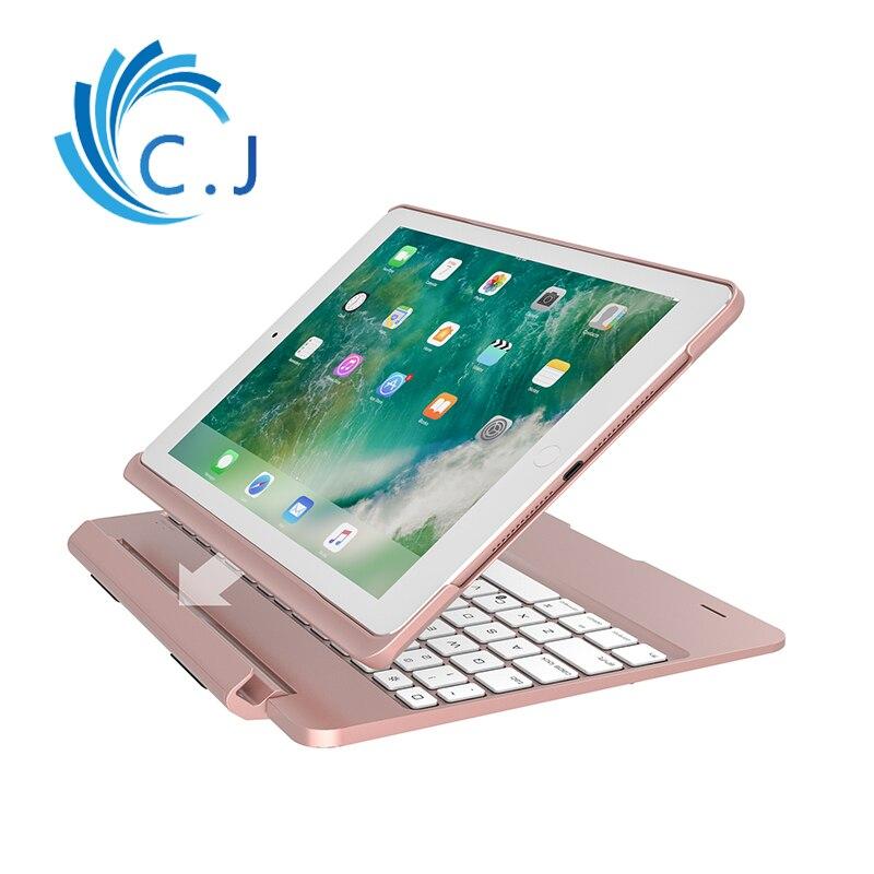 Ultra-mince portable Sans Fil Bluetooth Keyboard cover case pour ipad Pro 9.7, Apple ipad 2018 clavier, 2017 ipad, ipad air1/air2