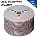 5x0,2 мм Leady Солнечная шина провода, 5 мм Солнечная припоя соединительные провода, подходит для 125 мм или 156 мм солнечных панелей, бесплатная дос...