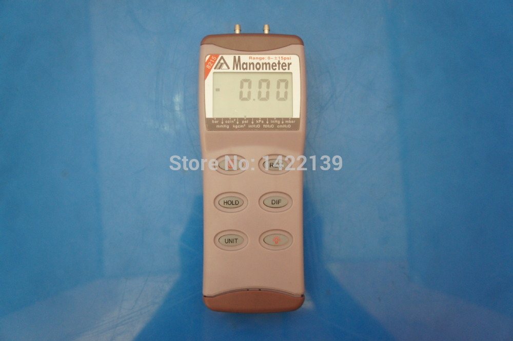 AZ8215 Digital Vacuum Gauge Manometer /15psi Manometer Differential Pressure Instrument Meter 100KPa
