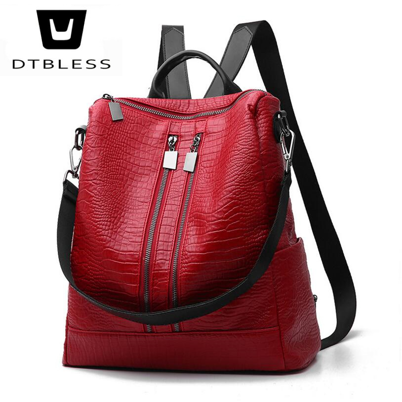 DTBLESS 2018 New Travel Backpack Women Female Rucksack Leisure Student School bag Soft PU Leather Women Bag D9603-1 new travel backpack korean women female rucksack leisure student school bag soft pu leather women bag