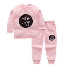 High Quality 100% Cotton baby clothing set,Toddlers children set,baby boys girls 2 pcs star Print,Hot sale-Pink 0-6y