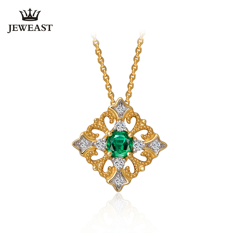 Natural emerald 18K Pure Gold Pendant Real AU 750 Solid Gold  Upscale Trendy Classic Party Fine Jewelry Hot Sell New 2019Natural emerald 18K Pure Gold Pendant Real AU 750 Solid Gold  Upscale Trendy Classic Party Fine Jewelry Hot Sell New 2019