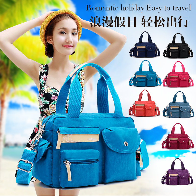 2017 summer women's Tote bag fashion casual light waterproof nylon cloth portable one shoulder Messenger Bag women handbags women handbag shoulder bag messenger bag casual colorful canvas crossbody bags for girl student waterproof nylon laptop tote