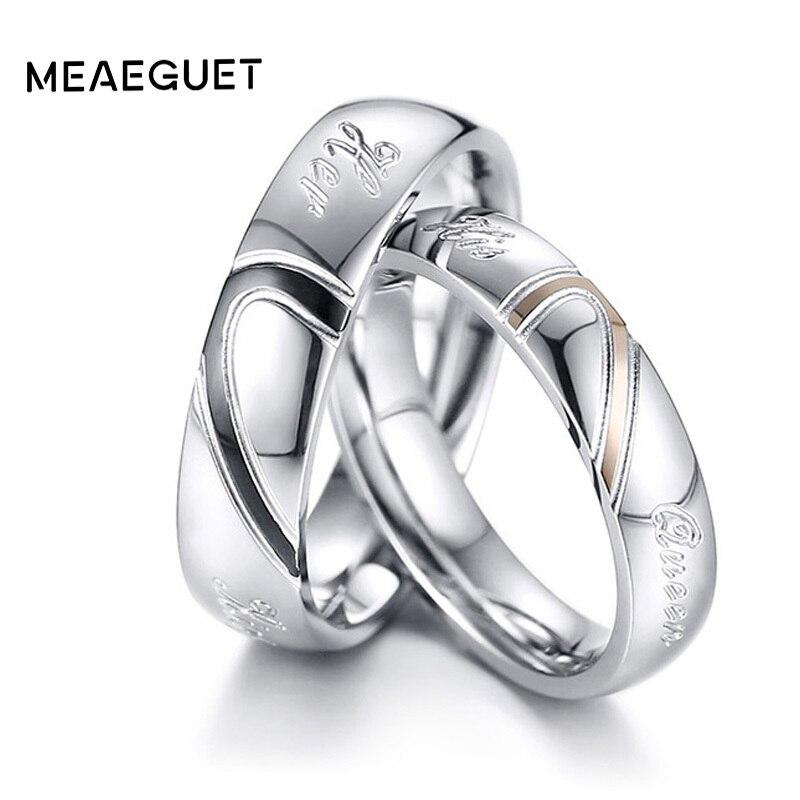 Уникальная пара Обручение кольца серебряные свадебные бренды Винтаж альянсов любителей Для мужчин Для женщин Обручение подарки Прямая пос... ...