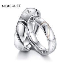 a295157b4969 Par único compromiso anillos de plata boda marcas Vintage alianzas los  amantes hombres mujeres regalos de compromiso de la nave .