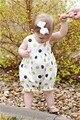 Новые Ребенка Комбинезон Летние Новорожденных Девочек Одежда Милый Dot Новорожденных детская Одежда Roupa Bebes рукавов Baby Girl Одежда Для Новорожденных Jumpsu