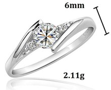 Silver Color Wedding Jewelry Rings