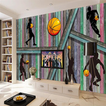Original 3D board basketball people background wall custom high-end mural factory wholesale wallpaper photo