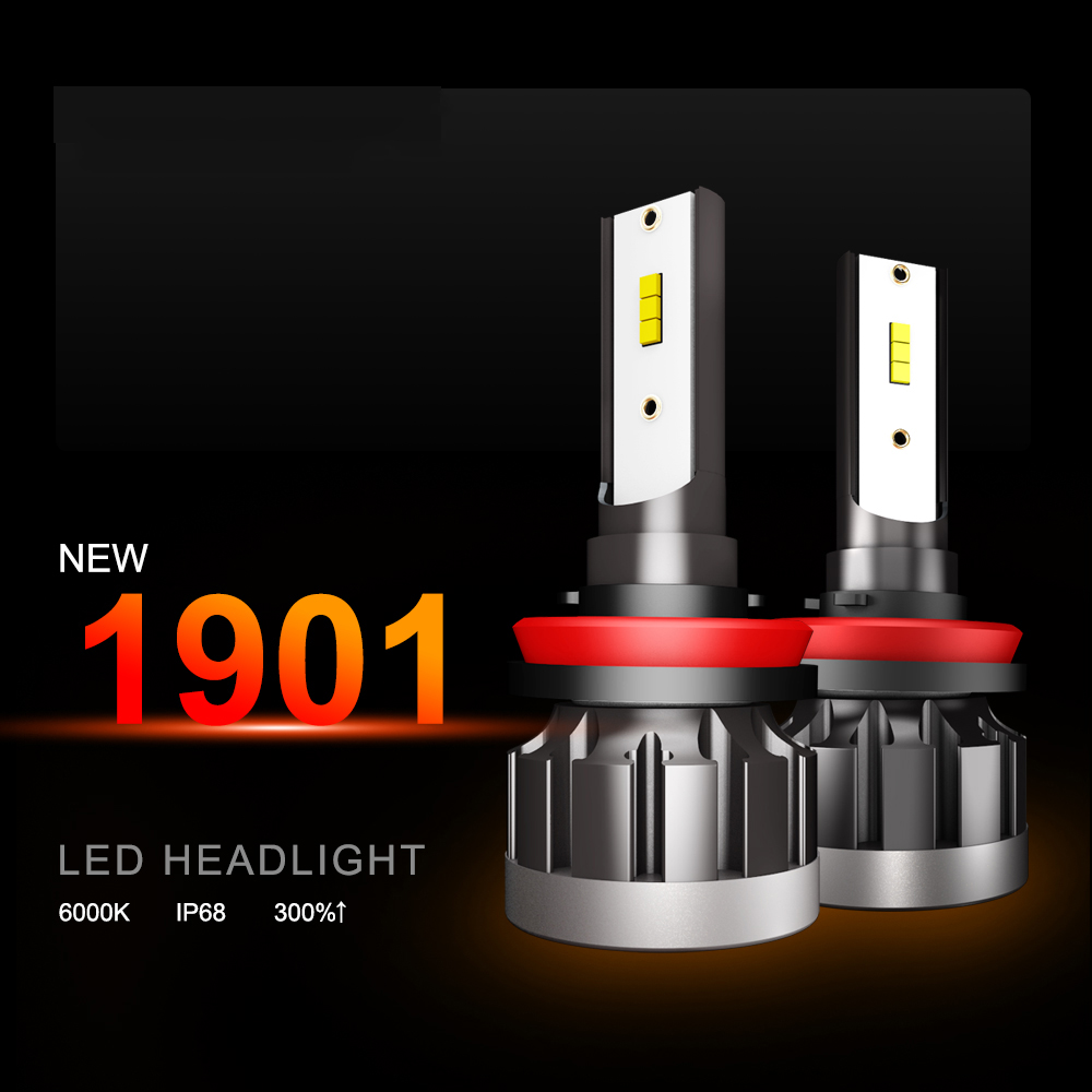 מנורות לרכב 2019 בניו 2pcs H7 LED 12000LM / זוג מיני רכב פנס נורות H1 LED H7 H8 H9 H11 פנסים קיט 9005 HB3 9006 HB4 לרכב LED מנורות (1)