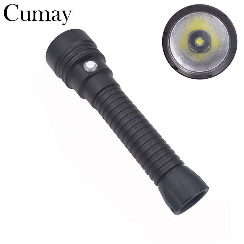 8000lumens LED Underwater Lamps 100M Dive Diving Outdoor Sport Fishing Diving Flashlight ...