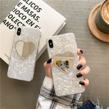 iwalk bcm002ih fashion mirror design protective plastic back case for iphone 5 black Luxury silver foil debris love mirror phone case For iphone XS MAX XR X 6 6s 7 8plus fashion fritillary hard plastic back cover
