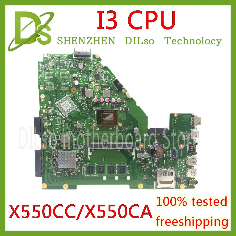 KEFU X550CC For ASUS X550 X550C X550CA X550CL Laptop motherboard X550CC mainboard I3 CPU GM 100% WORK Test original motherboard