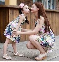 hot sale 2019 summer vest dress tide Korean mother daughter dresses wholesale family matching clothes