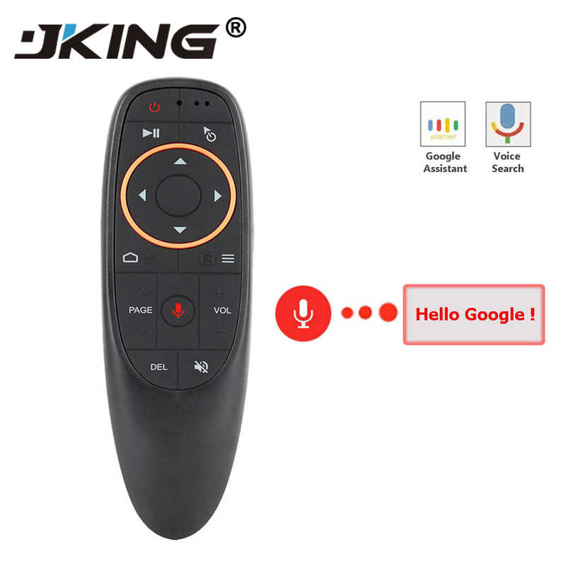 G10 Voice Air Mouse with USB 2.4GHz Wireless 6 Axis Gyroscope Microphone IR Remote Control For Smart tv,Android Box,PC PK W1 MX3