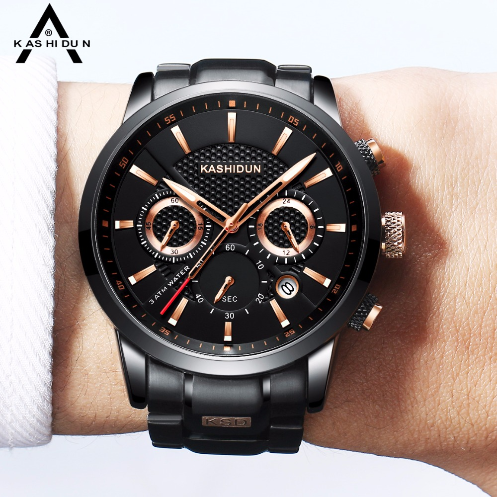 KASHIDUN relogio masculino Top Brand Watch Men Sport Watch Waterproof Military Quartz Wristwatch Hot Clock saat