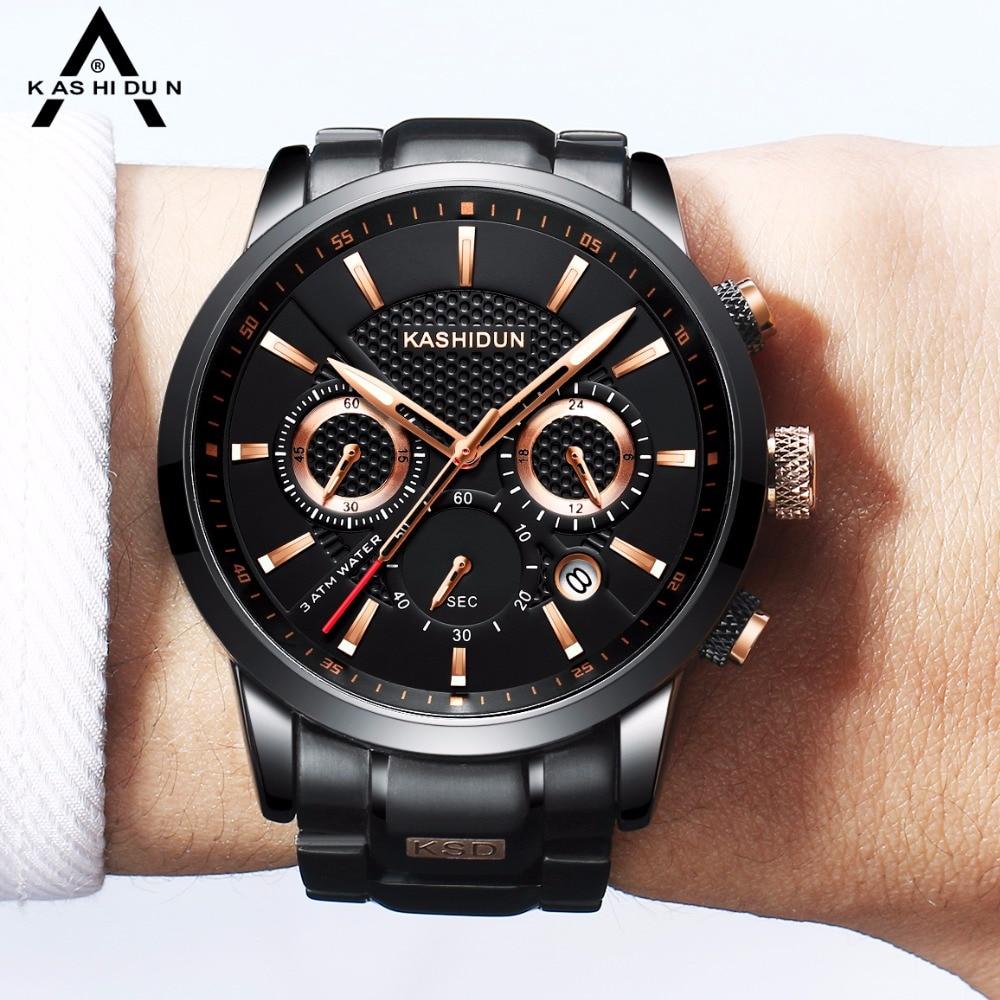 Kashidun Relogio masculino Top marca reloj hombres impermeable reloj deportivo Militar reloj del cuarzo caliente reloj mujer 2017