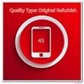 10 pçs/lote Refurbish Originais A Qualidade Da Tela para 4S Display LCD Preto/Branco