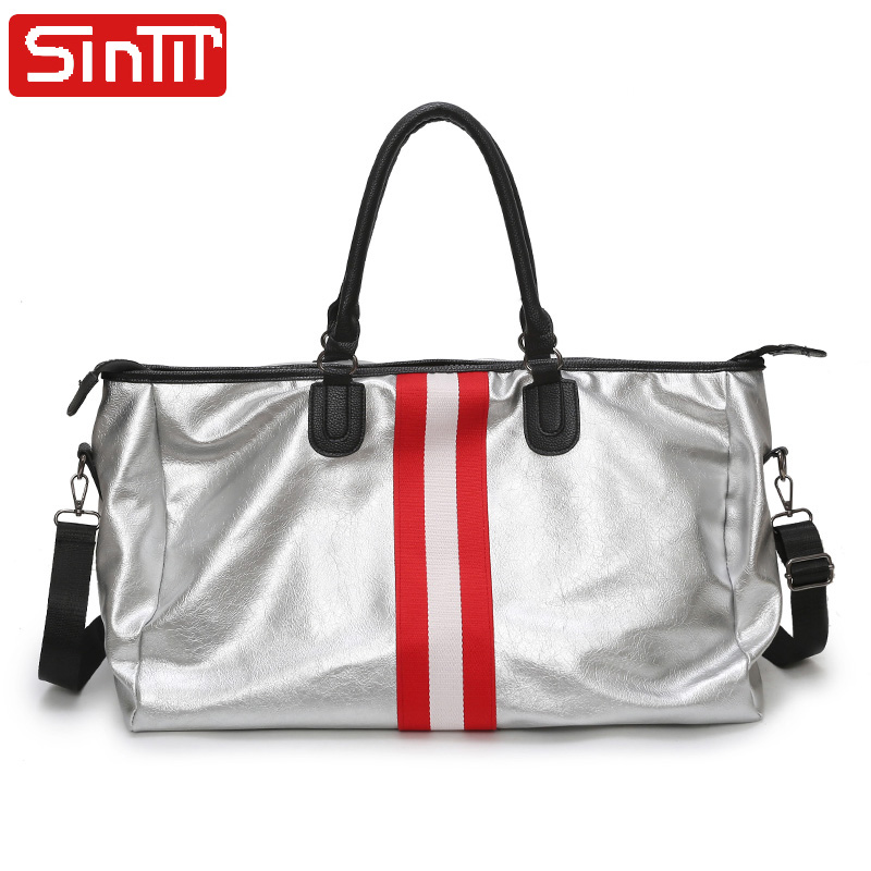 Brand Designer PU Leather Men Women Travel Shoulder Bags Carry On Luggage Bags Luxury Duffel Bag Travel Tote Large Weekend Bags