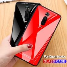 ALLORUS Original Glass Case for Xiaomi Mi 9T Mi A2 8 Lite 9 SE Hard Tempered Glass Case for Xiaomi Mi 9T Pro A2 Lite Back Cover super shockproof phone case for xiaomi mi 9t mi 8 lite a2 lite mi 9 airbag silicone tpu case for xiaomi mi 9t mi 8 lite cover