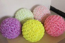 12 Inch Wedding silk Pomander Kissing Ball flower ball decorate artificial flower for wedding garden market decoration
